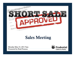 Be more successful with your short sales!